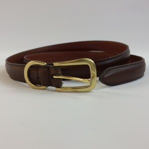 Coach Leather Belt Brass Buckle Brown Size L EUC